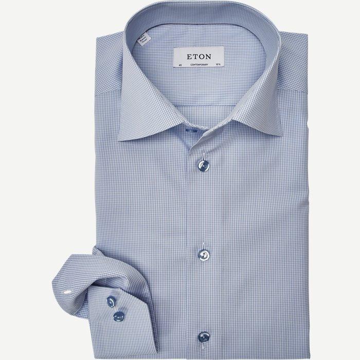 2634 Poplin Skjorte - Skjorter - Blå